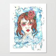 Miss Blue Canvas Print