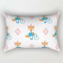Girl Fox with Pink Diamond Rectangular Pillow