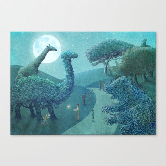 Summer Park - Night Canvas Print