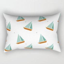 Lazy Days and Sailboats Rectangular Pillow