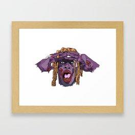 YOUNG THUG-ZOMBIE Art Framed Art Print