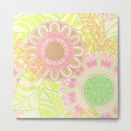 Hand Drawn Floral & Mandala 07 Metal Print