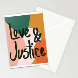 Love and Justice in Sunrise Stationery Cards