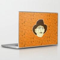 freddy krueger Laptop & iPad Skins featuring Freddy Krueger by Kuki