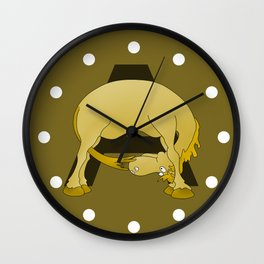Pony Monogram Letter A Wall Clock