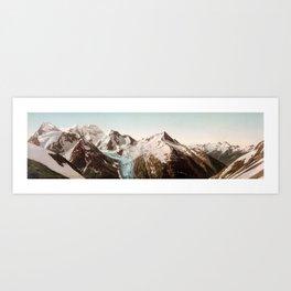 Vintage Mountain Peaks Art Print
