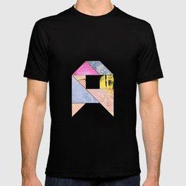 Collaged Tangram Alphabet - A T-shirt