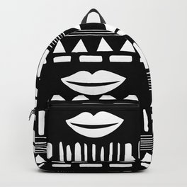 TRIBAL White and Black Backpack