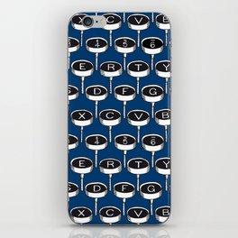 Infinite Typewriter_Blue iPhone Skin