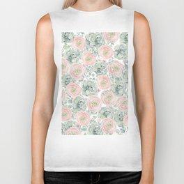 Flowers And Succulents White  #buyart #decor #society6 Biker Tank