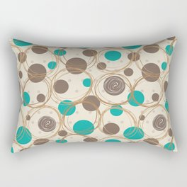 Brown and turquoise Rectangular Pillow