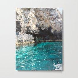 Malta Blue Grotto Metal Print