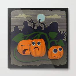 Pumpkin patch massacre Metal Print