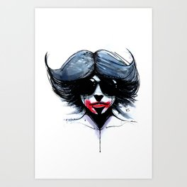 red black 02 Art Print