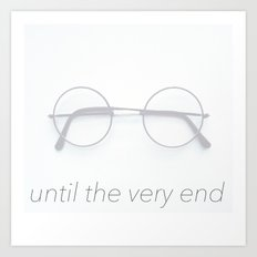 Harry Potter - Until the Very End Art Print