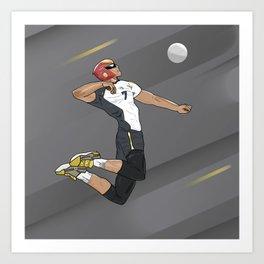 Captain Falcon Haikyuu Art Print