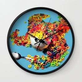 Clumsy Mornings Wall Clock