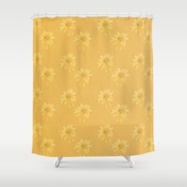 Yellow Orange Bows Shower Curtain