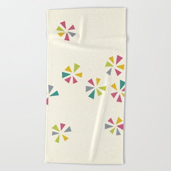 Colour Wheels Beach Towel