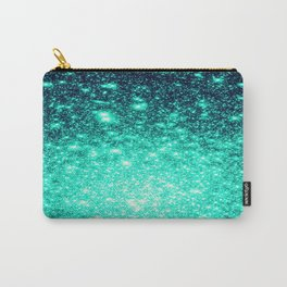 Stars Ombre Cool Aqua & Teal Carry-All Pouch