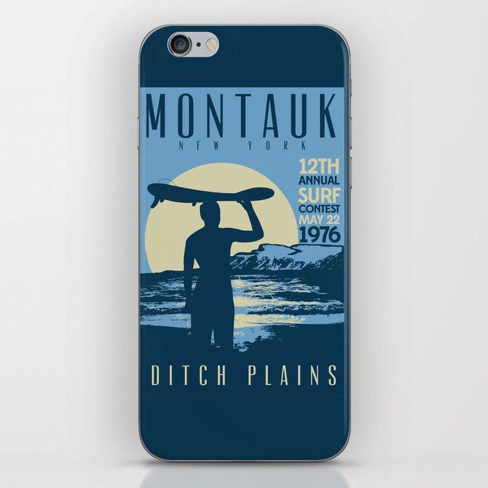 Montauk Ditch Plains Retro Vintage Surf iPhone Skin