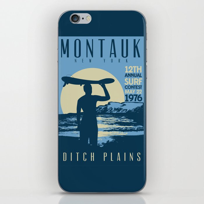 Montauk Ditch Plains Retro Vintage Surf iPhone Skin