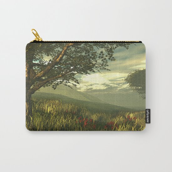 Summer tree in a poppy field Carry-All Pouch