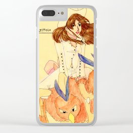 Cowgirl Clara Clear iPhone Case