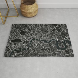 London City Map of England - Dark Rug
