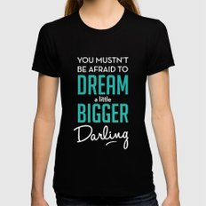 Inception Womens Fitted Tee Black SMALL