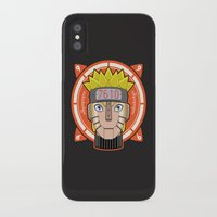 naruto iPhone & iPod Cases featuring Mecha Naruto by Enrique Valles