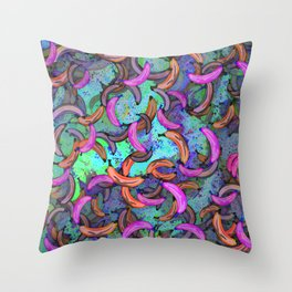 Abstract Banana Song Throw Pillow