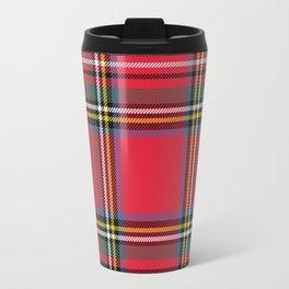 Red & Green Tartan Pattern Travel Mug