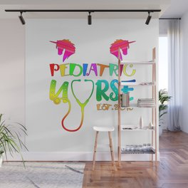 Pediatric Nurse Est. 2018 Graduation Gift Wall Mural
