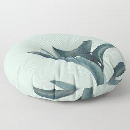 Teal Mint Plant Floor Pillow