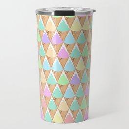 Spring Pastel Ice Cream Pattern Travel Mug