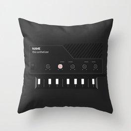 Analog Synth (Monotron) Throw Pillow