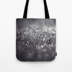 black and white and bokeh Tote Bag