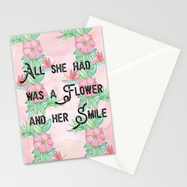 Surfer girl quotes Stationery Cards