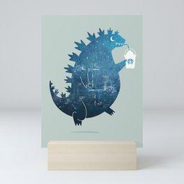 Godzillatte Mini Art Print