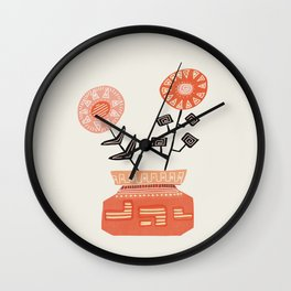 Floral vibes V Wall Clock