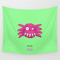 tooth Wall Tapestries featuring Soft Tooth by Furrry Monsters