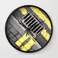 grid Wall Clocks featuring Grid by PRE Media