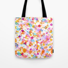 Birthday Party Confetti - Drops of Colorful Ink Tote Bag