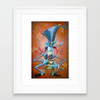 mad hatter Framed Art Prints featuring Mad Hatter by Bili Kribbs