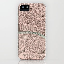 Vintage Map of Glasgow Scotland (1901) iPhone Case