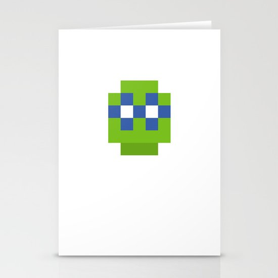 hero pixel green blue Stationery Cards
