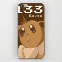eevee iPhone & iPod Skins featuring Pkmn #133: Eevee by Michelle Rakar