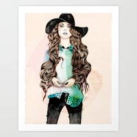 boho Art Prints featuring Boho Chic  by Felicia Atanasiu