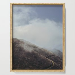 Cloudy Hills, Madeira Island. Portugal. Fine Art Travel Print. Nature Wall Art. Serving Tray